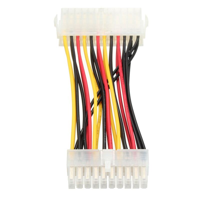 Adaptador de alimentación de PC interno de 20 pines macho a 24 pines hembra ATX Cable conector de extensión de junta para disco duro de PC de alta calidad