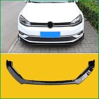 For VOLKSWAGEN Golf 7 MK7 2013-2017 Front Bumper Lip Diffuser Body Kit Lower Bumper Spoiler Protector Cover Trim Car Styling
