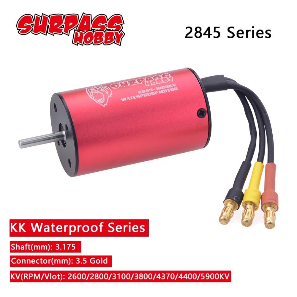 Waterproof KK 2845 3.175mm 2600KV 2800KV 3100KV 3800KV 4370KV 4400KV 5900KV Brushless Motor for Trax
