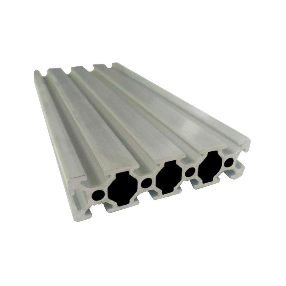 Guia linear impressora 3d 100mm a 600mm trilho anodizado perfil de alumínio extrusão 3d peças de impressora 2080 para diy bancada