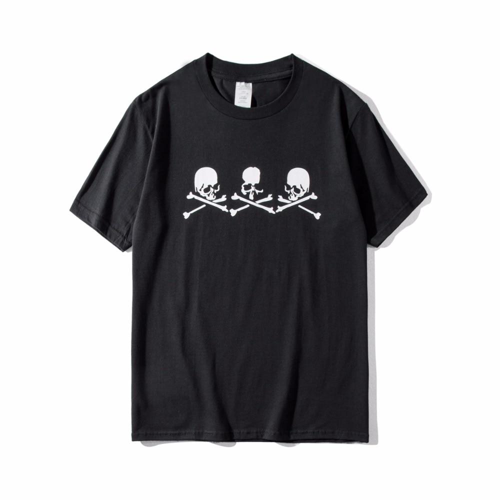 19ss Latest Summer Hip hop Mastermind japan men women MMJ Black White Skeleton Short sleeve tees Oversize T-Shirts Cotton S-XXL