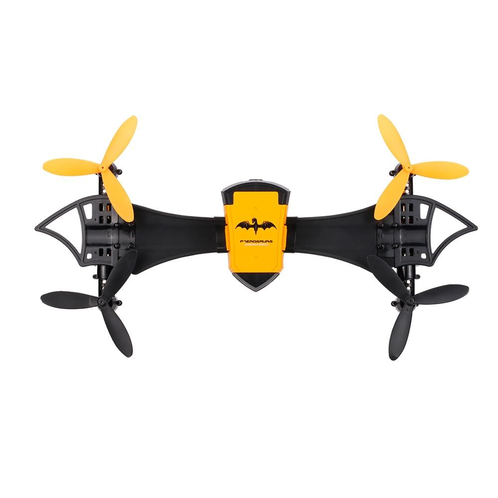 Cheerson CX-70 Transformable Bat Drone 0.3MP HD caméra Wifi FPV portable quadrirotor g-capteur Selfie Drone poche hélicoptère