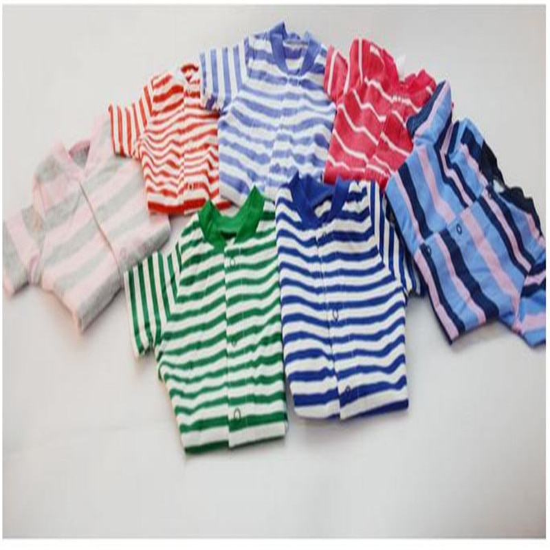 High Quality Short Sleeve Baby Jumpsuits Pajamas Boy Girl Rompers Overalls Infant Sleepwears Cotton Sleepsuit 3pcs/lot