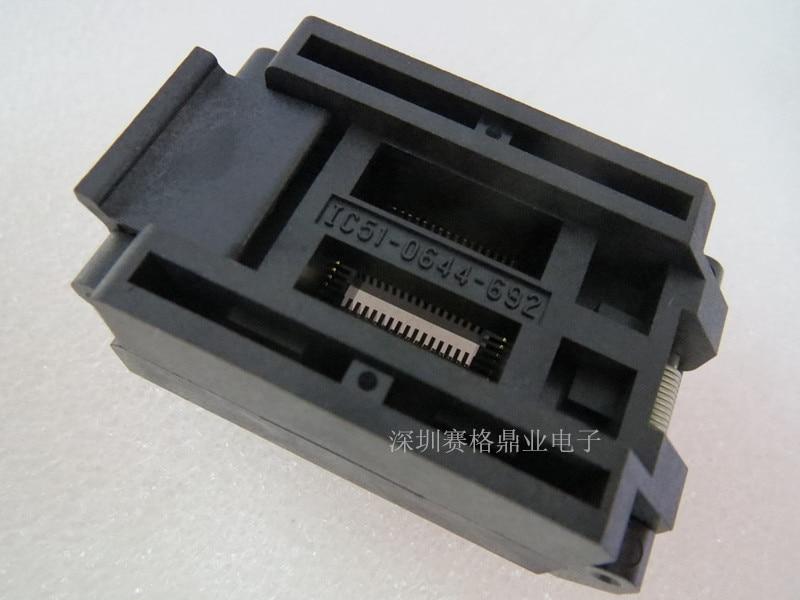 bancada de teste adaptadora de queima ic escala conves qfp64 tratfp64 yamaichi espessura de 16 32mm