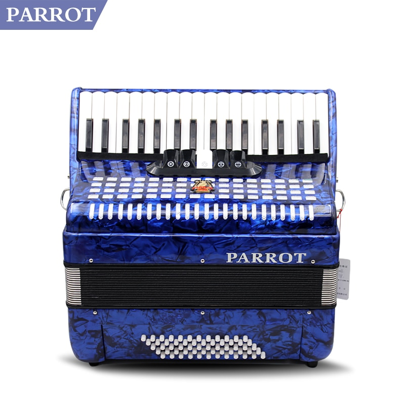Papagaio acordeão 60 baixo azul jogando acordeão de entretenimento china tempo-honrado marca frete grátis