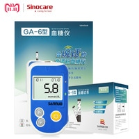 Sinocare GA-6 Blood Glucose Meter Test Strips Separated and Lancets for Diabetes