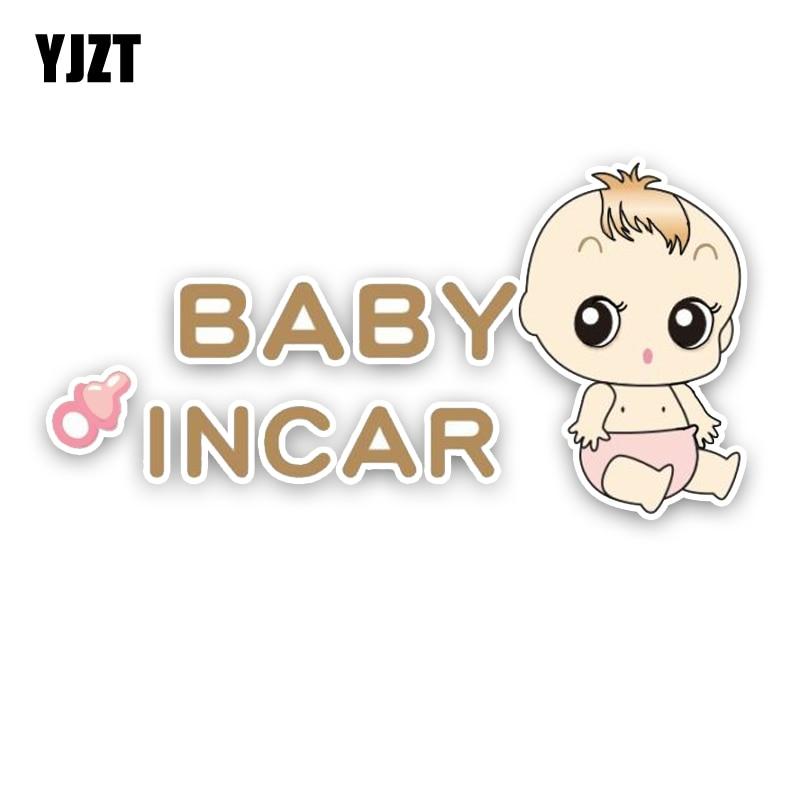 YJZT 16.4*8.4CM BABY ON BOARD Car Sticker Bumper Window High Quality Decals Graphic Colored C1-5694