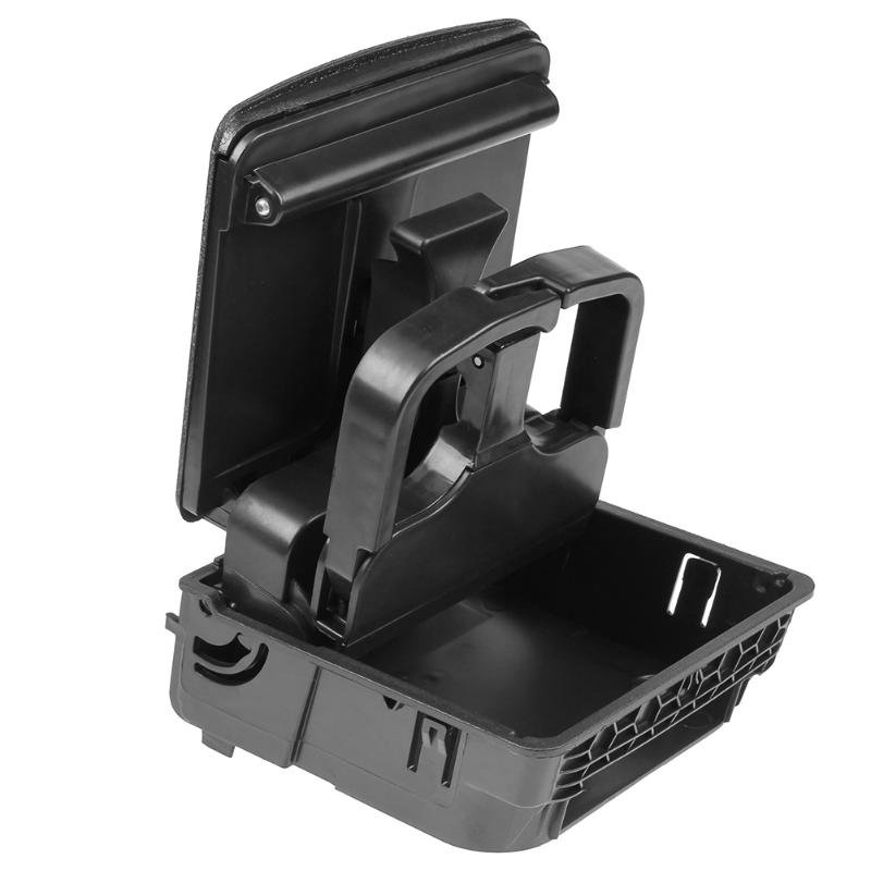 1 Uds compartimento para apoyabrazos trasero Central, portavasos para VW Jetta Golf 6 MK6, accesorio para Estilismo de coche, portabotellas de alta calidad