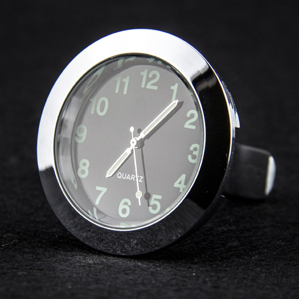Reloj analógico de cuarzo Digital luminoso de bolsillo, reloj Stick-On, para coche, barco y oficina