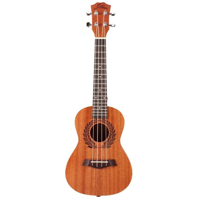Abgz-asson ukelele de caoba Tenor ukelele de 26 pulgadas Uke Hawaii 4 cuerdas de guitarra de Metal Tuning clavijas palisandro diapasón