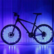 1 * coloré vélo lumières montagne route vélo lumière cyclisme parle roue lampe vélo accessoires Luces Led Bicicleta Bisiklet 20 LED