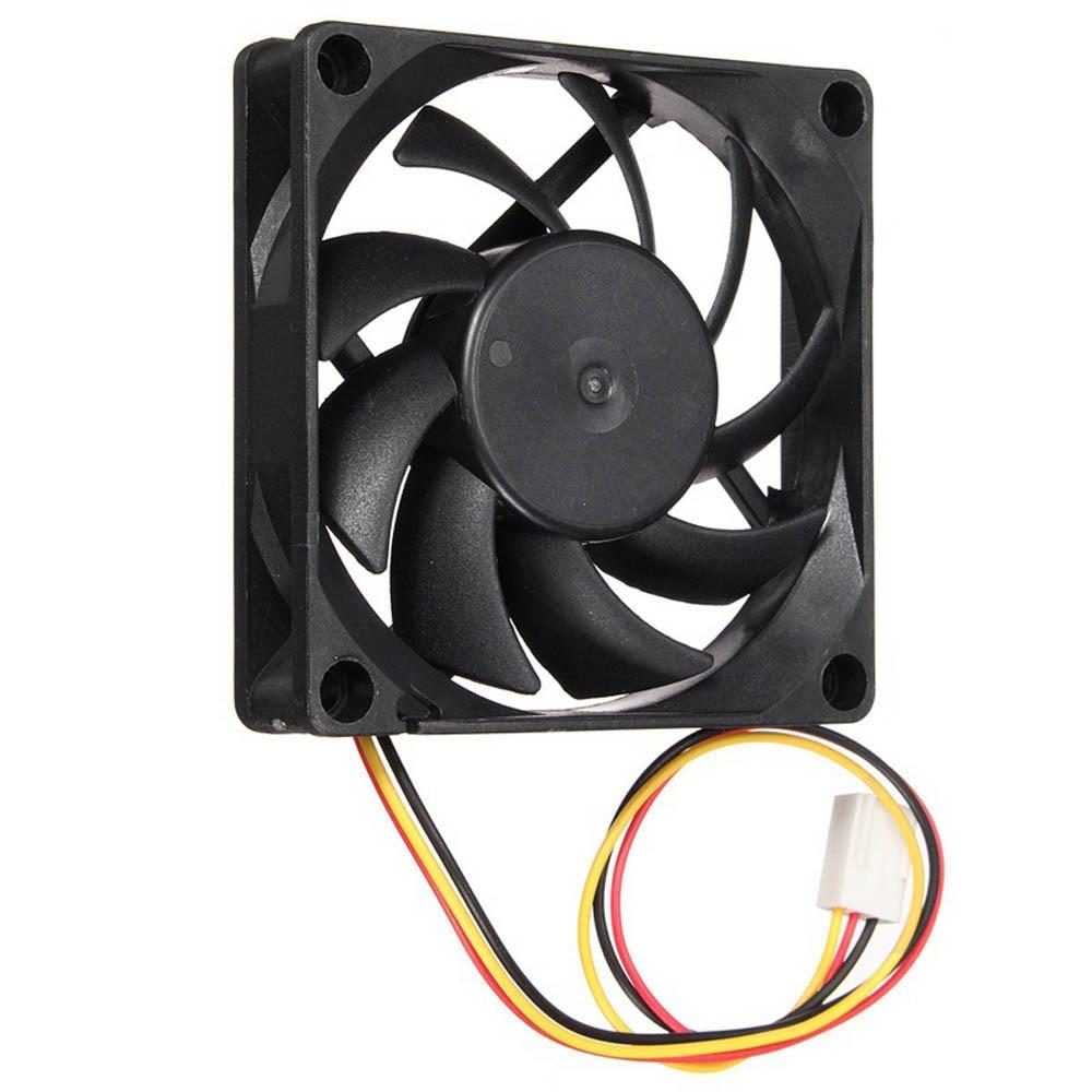 Nuevo ventilador de caja tranquilo 7 cm/70mm/70x70x15mm 12 V 12 V de la computadora /PC/CPU refrigeración silenciosa ventilador de caja mantener tu PC # T2
