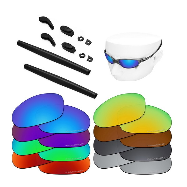 OOWLIT Anti-Sea Water Replacement Lenses&Rubber Kit for-Oakley Juliet Etched Polarized Sunglasses