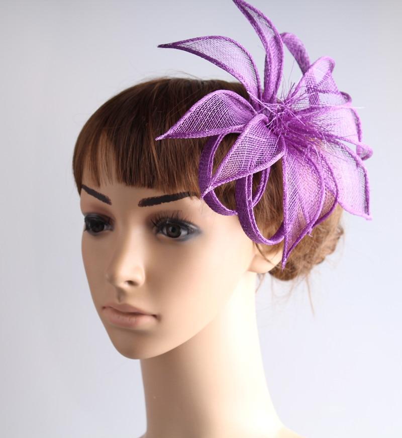 Cor de alta qualidade sinamay fascinator headwear colorido malha festa casamento mostrar acessórios para o cabelo millinery cocktail hat myq105