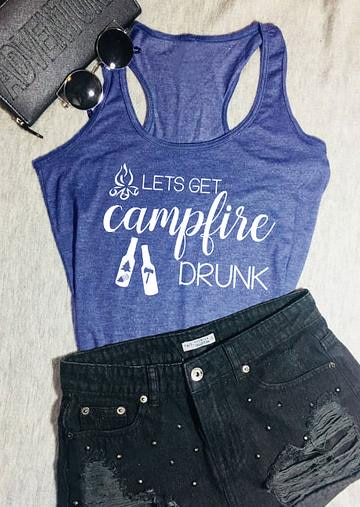 Colete vamos obter camplire bêbado verão sem mangas tanque de acampamento festa bêbado amante gráfico grunge tanque topos senhora sexy camisa coletes
