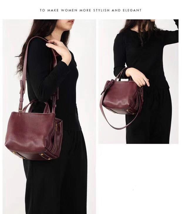جلد طبيعي حقائب النساء Vintage وسادة جلد البقر حقيبة يد السيدات الصلبة عادية جديد وصول حقائب للنساء السيدات المتشرد