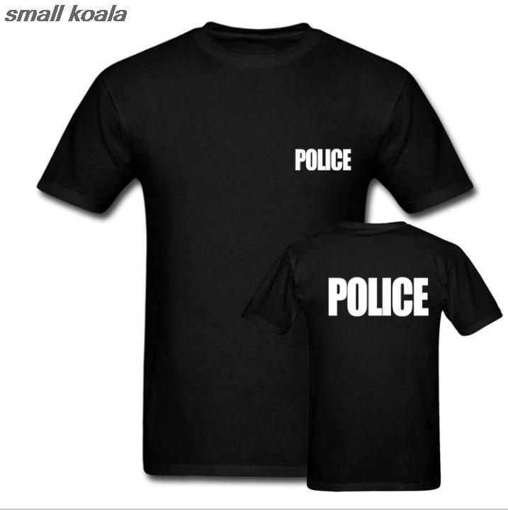 Camiseta policía Sheriff evento gorila guardia policía camiseta Cool Tops camisetas Euro tamaño