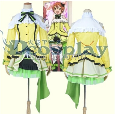 Amor. School Idol Project Hoshizora Rin mujeres Cosplay de anime Cosplay disfraz Lolita vestido