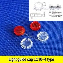 10 pièces LC10-4 type de boucle guide de lumière bouchon 10mml transparent indicateur housse de protection tête ronde abat-jour