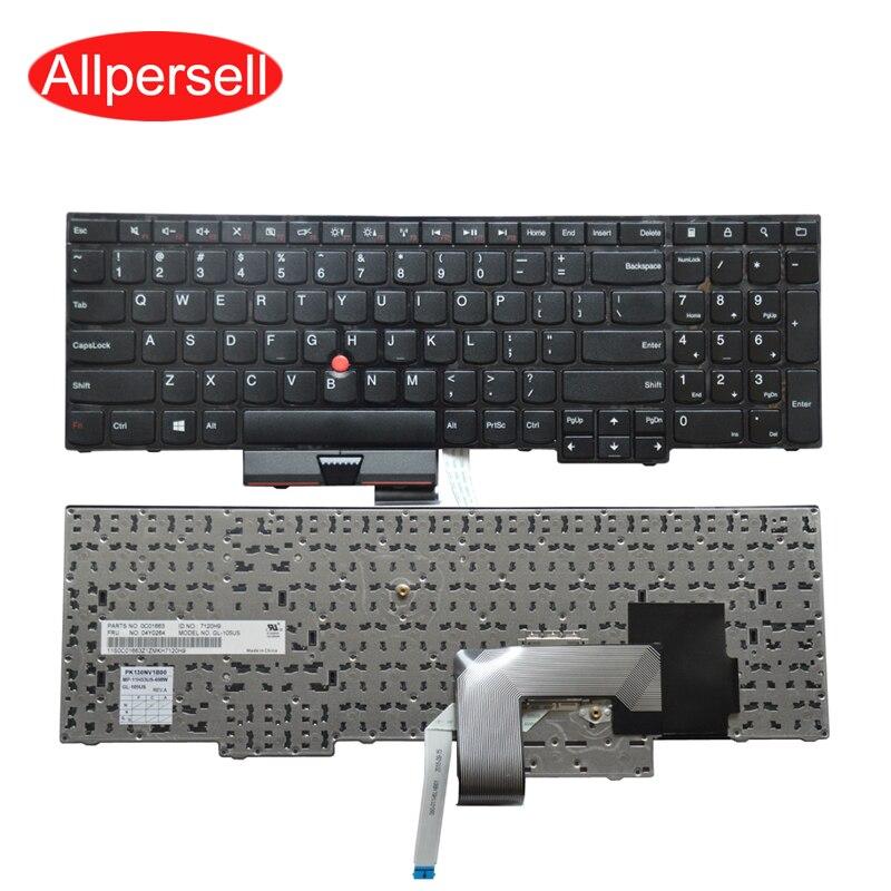 لوحة مفاتيح الكمبيوتر المحمول Lenovo Thinkpad E545 E530 E535 E530C ، أسود ، علامة تجارية أمريكية جديدة