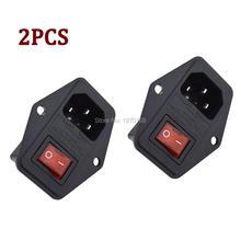 2Pcs/Lots Inlet Module Plug 5A Fuse Switch Male Power Socket 10A 250V 3 Pin IEC320 C14