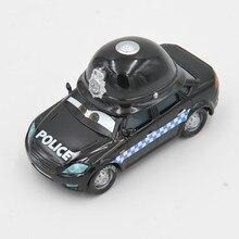 Disney Pixar Cars Lightning Mcqueen coche de dibujos animados negro Mark Wheelsen gris UK policía Diecast Metal Juguetes Coche para niños regalos