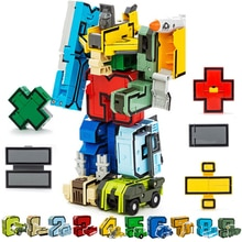 15 pièces assemblage de blocs de construction jouets éducatifs Figure daction nombre de Transformation Robot déformation Robot jouet pour les enfants
