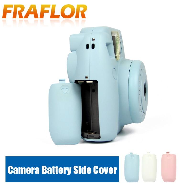 Cubierta lateral para batería de cámara Universal Polaroid Mini 8/8 +/9 para cubierta de batería para cubierta de repuesto rosa azul blanco