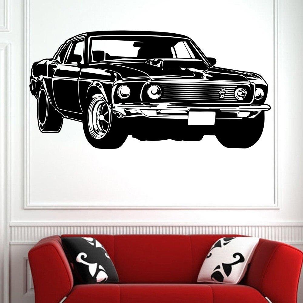 Autocollant Mural en vinyle   Offre spéciale, Shelby GT, Ford Mustang, course musculaire, voiture
