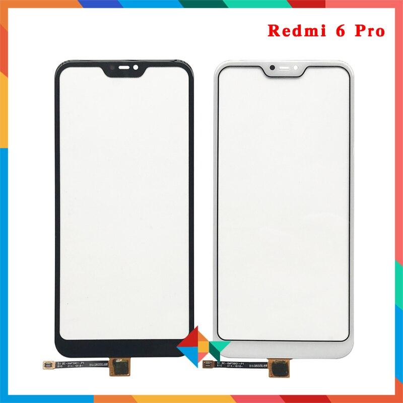 10 قطعة/الوحدة عالية الجودة ل شاومي Redmi 6 6A / 5A / 6 برو/Mi A2 لايت شاشة تعمل باللمس محول الأرقام الجبهة زجاج عدسة لوحة الاستشعار