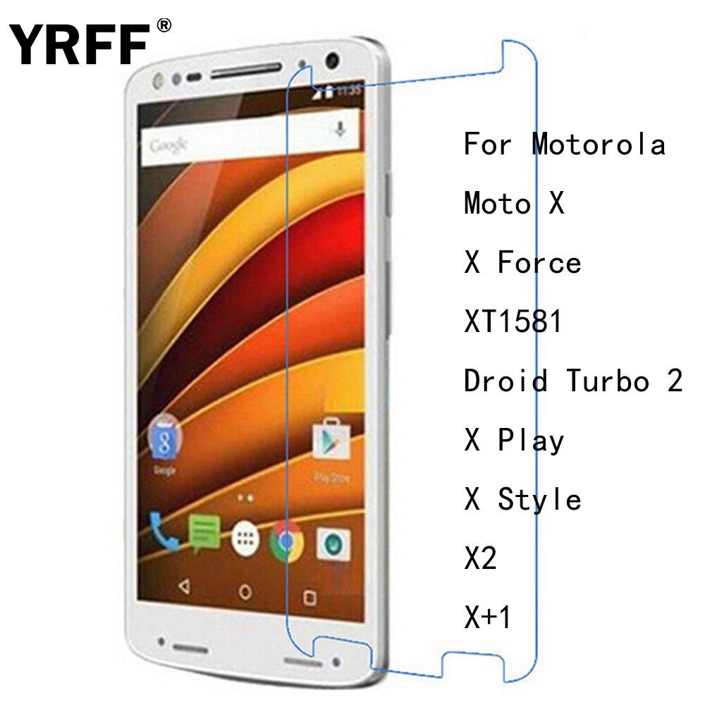 2 piezas 2.5D 0,26mm HD Premium de cristal templado de cine Protector de pantalla para Motorola Moto X fuerza XT1581 X Play X estilo X2 X + 1