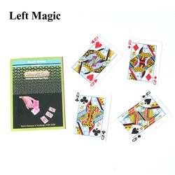 Reis automáticas Por Henry Evans Cartão de Truques De Mágica Adereços Magia Quatro Reis Girar A Partir Do Convés Perto Rua Truque de Mágica