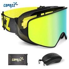 COPOZZ 2 in 1 Ski Bril met Originele Case Dubbele Lenzen voor Night Skiën Anti-fog UV400 Snowboard Goggles voor Mannen & Vrouwen