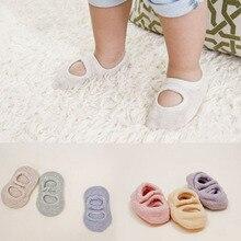 Baby Boat Socks Infant Newborn Baby Footwear Socks Cotton Hole Breathable Baby Girls Boy Short Socks Sokken 0-2Y