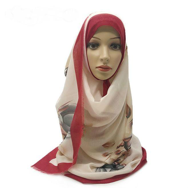 2019 Summer Thin Voile Head Scarves With Fringe Cotton Pretty Printed Breathable Women Muslim Hijab Shawl Gauzy 180x85cm