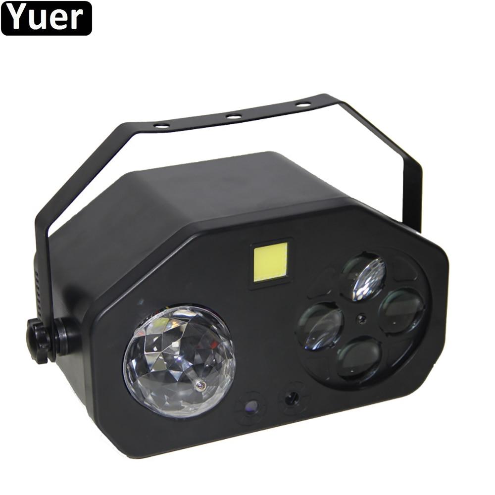 جديد ديسكو الكرة الليزر ستروب بقعة شعاع 4IN1 LED المرحلة تأثير ضوء DMX512 إضاءات دي جي الصوت نادي حفلات الزفاف الموسيقى تأثير الإضاءة