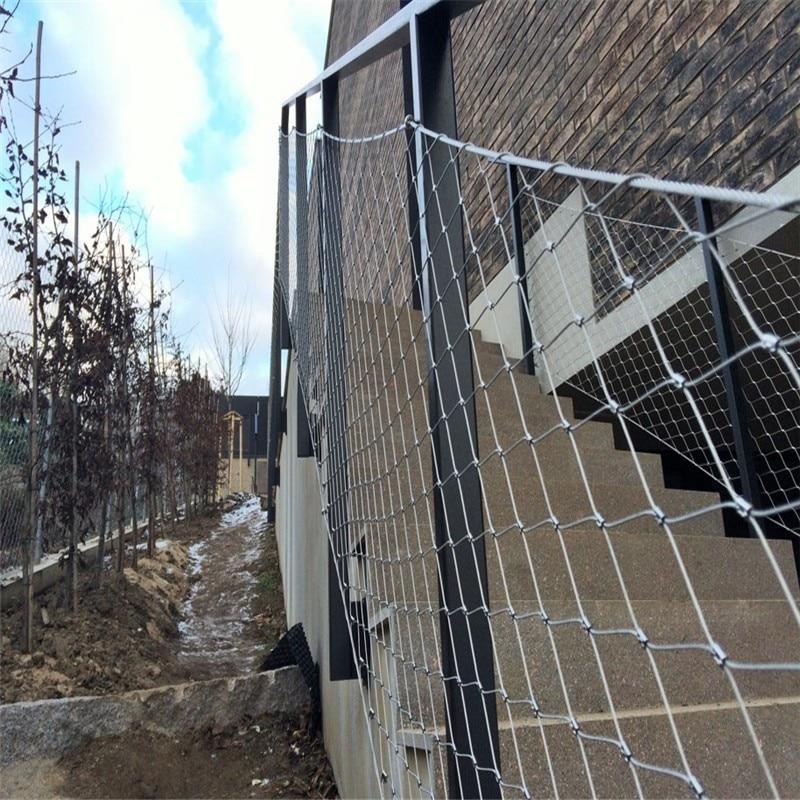 Balaustrada, valla protectora de malla, cable de acero inoxidable