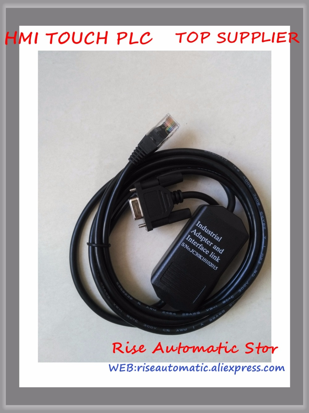 Adaptador de DH-485 1747-PIC RS232 para SLC5/01/02/05/03 Series PLC con indicador 2,5 m RJ45 entrega rápida