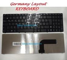 Livraison gratuite Nouvelle Allemagne clavier Pour ASUS G72 G73 G60 K52 N53 N61V N60 N61 N50 K53 K52J K52JB K52JC avec cadre GR Clavier