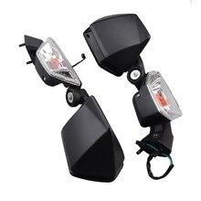 Paire rétroviseurs clignotants noirs rétroviseurs pour Kawasaki Ninja ZX-6R 2005-2008 ZX10R 2004-2010