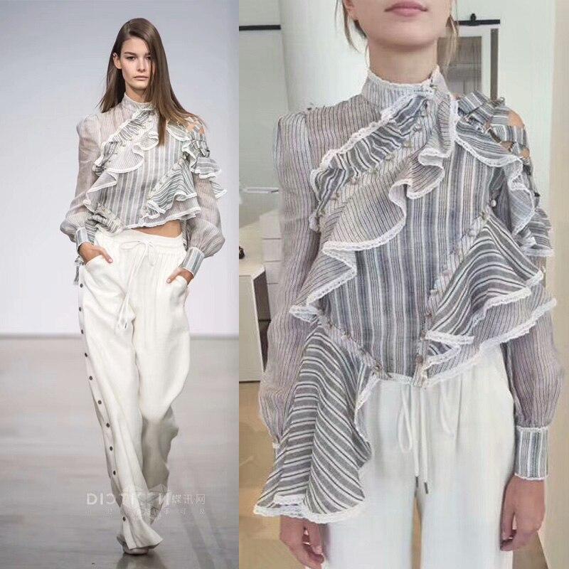 Increíble blusa de diseño de volantes, único de las mujeres casuales blusas top hohemian vadim blusas de mujer de moda 2017 irregular ciruela camisa
