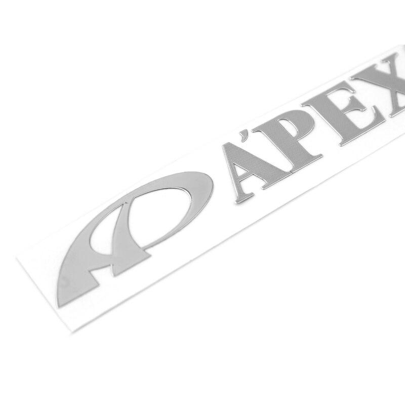 Pegatinas ETIE 1 Uds 90*13mm diseño de la etiqueta engomada del coche accesorios de la motocicleta Apexi accesorios de coche etiqueta engomada de níquel personalizada