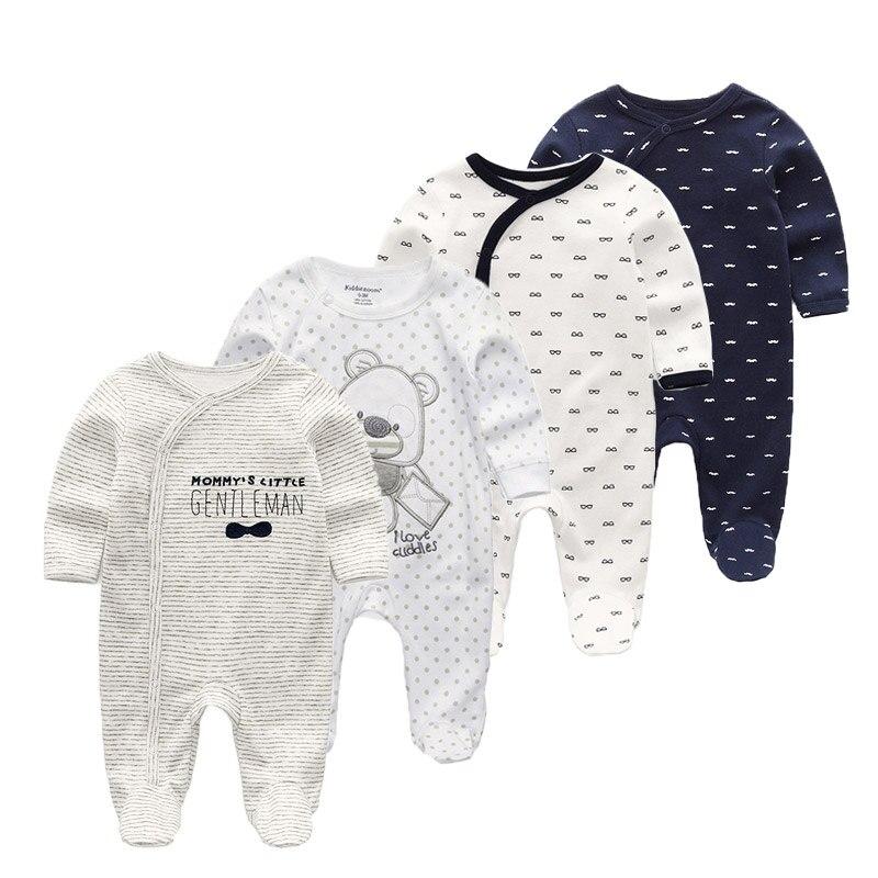 4 шт./лот Мягкая хлопковая одежда для сна малышей Kawaii Детские пижамы мальчиков и
