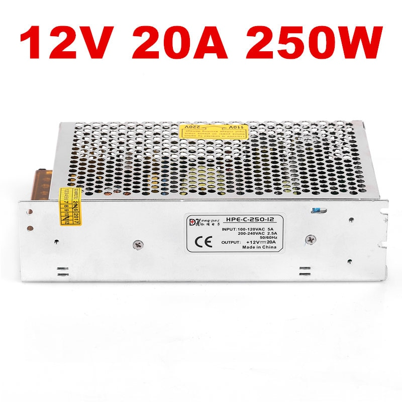 1PCS Industrial grade power supply  250W 12V Power Supply 12V 20A LED driver 12V  S-250-12