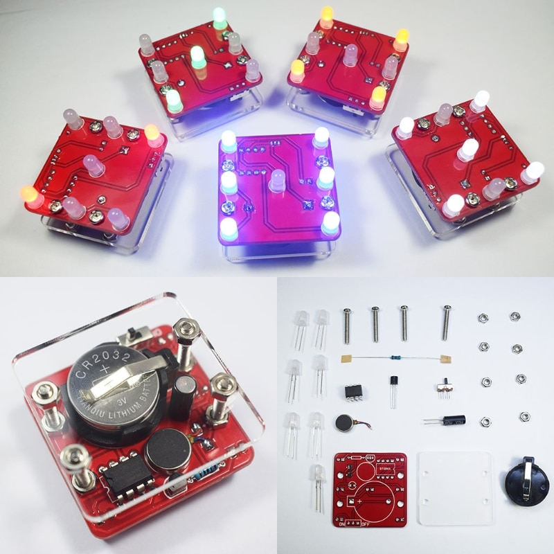 OOTDTY DIY Schaukel Schütteln LED Würfel Kit Mit Kleine Vibration Motor Diy Elektronische Kits Dropshipping