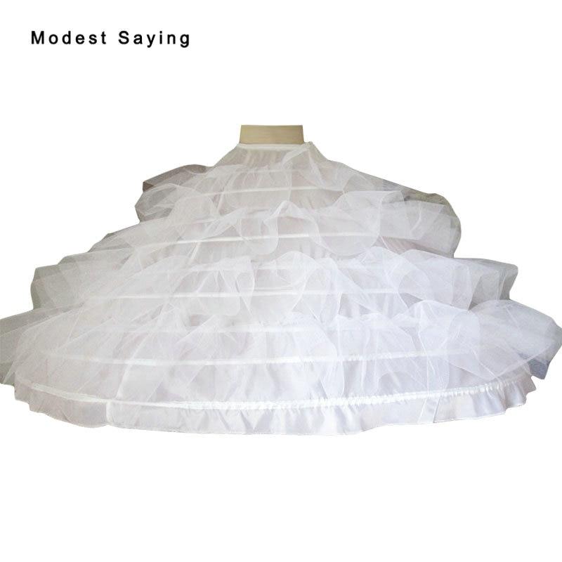 High Quality 9 Hoops Petticoat Underskirt For Super Big Ball Gown Wedding Dress 2019 Bridal Gowns Wedding Accessories Crinoline