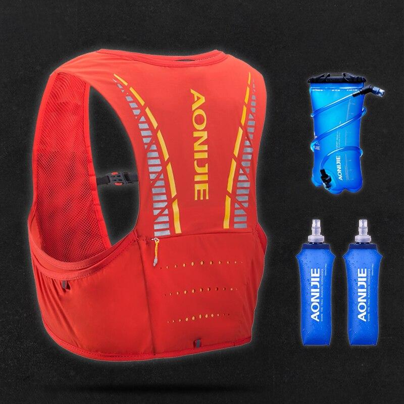 AONIJIE 5L Paquete de hidratación mochila bolsa chaleco arnés vejiga de agua senderismo Camping Running maratón carrera escalada