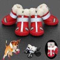 Dog Shoes Winter Cotton Anti Slip Dog Rain Snow Boots Reflective Waterproof Pet Shoes Footwear for Medium Large Dogs Bulldog