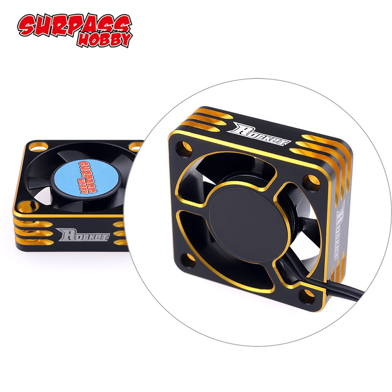 28000RPM Metal Cooling Fan Motor Heat Dissipation for Hobbywing 1/10 3650 540 Motor RC Car Modified Stock Spec ROCKET