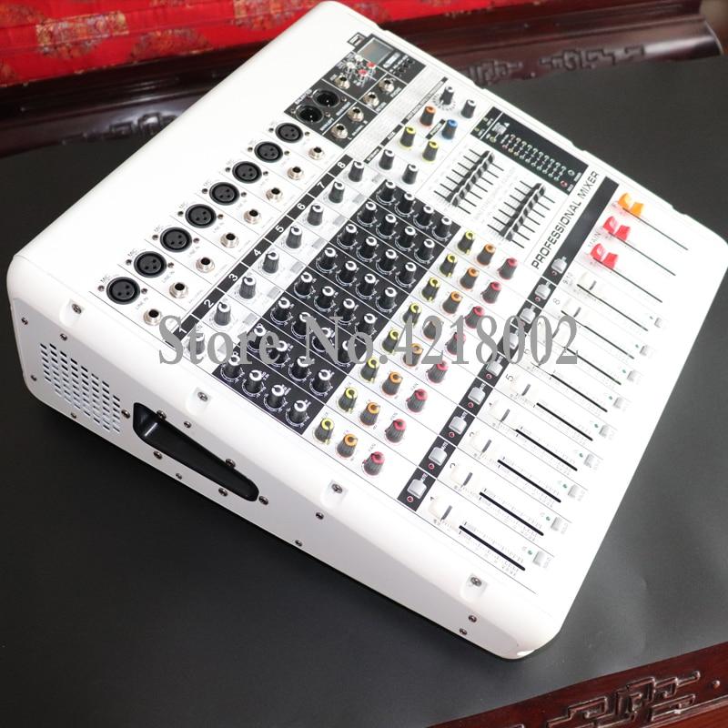 مكبر صوت بلوتوث عالي الطاقة ، 8 قنوات ، خلاط كاريوكي ، مؤتمر الأداء ، USB ، MP3 ، ميكروفون ، نظام خلاط